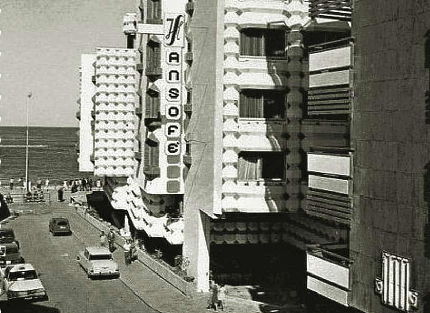 El hotel Sansofé Palace en los años 80