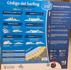 Paneles con el «código del surfing» se instalarán en las bajadas a la playa de la Cicer