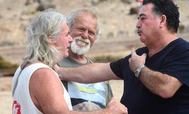 La conversación de tres leyendas del surf canario