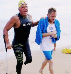 Carmelo Santana, saldrá desde La Puntilla el 1 de octubre para dar la vuelta a Gran Canaria nadando