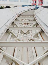 A final de mes se instalará la pieza de la Pasarela del Puerto Onda Atlántica que discurre sobre la Avenida Marítima