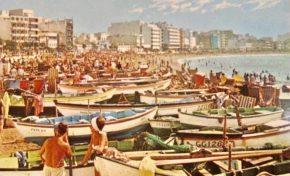 Turistas y barquillos en los años 60
