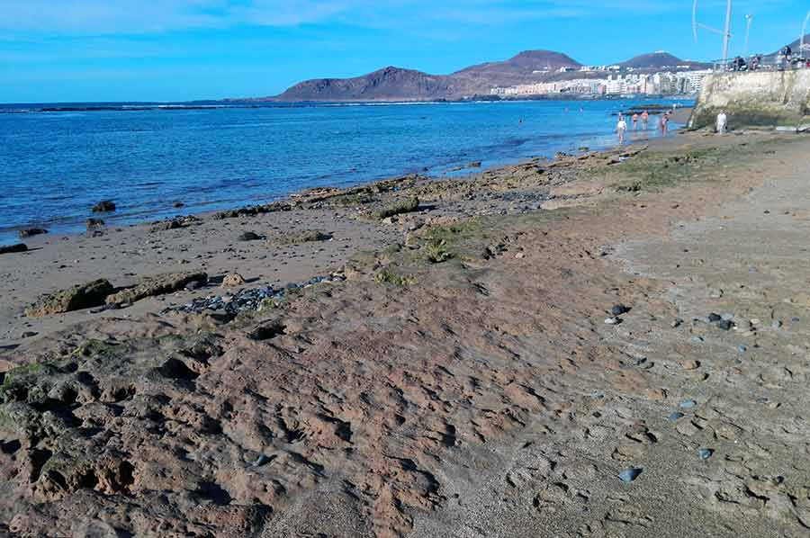 La Playa Chica y su falta de arena