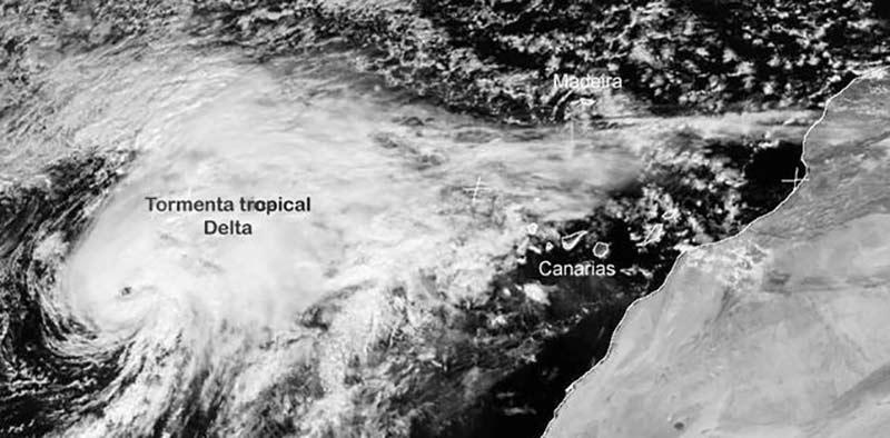 Este jueves se cumplen 14 años de la tormenta tropical Delta