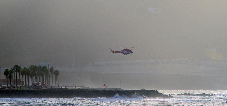 Exhibición en el Lloret del helicóptero del 112