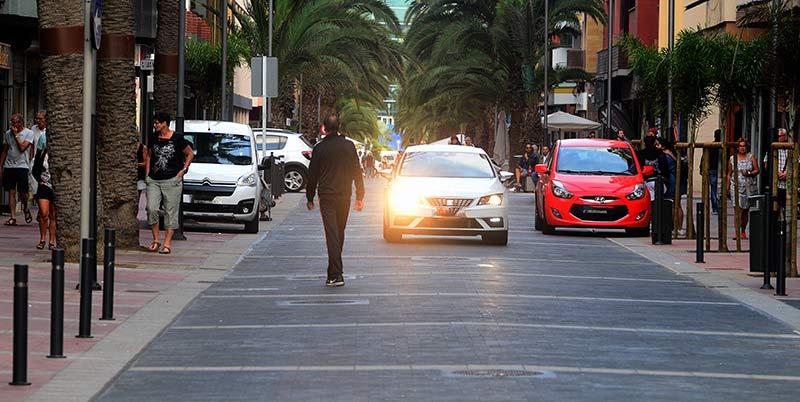 El tramo de Luis Morote entre Tomás Miller y Las Canteras NO es peatonal