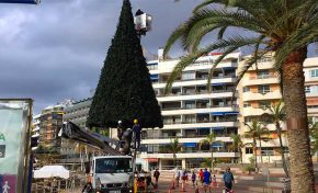 El árbol navideño de Las Canteras