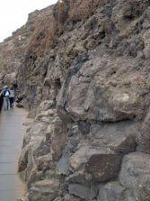 Olor insoportable por las cagadas de los perros en la pasarela de acceso a la playa de El Confital
