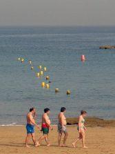 El día a día de la playa de Las Canteras en el año 2004