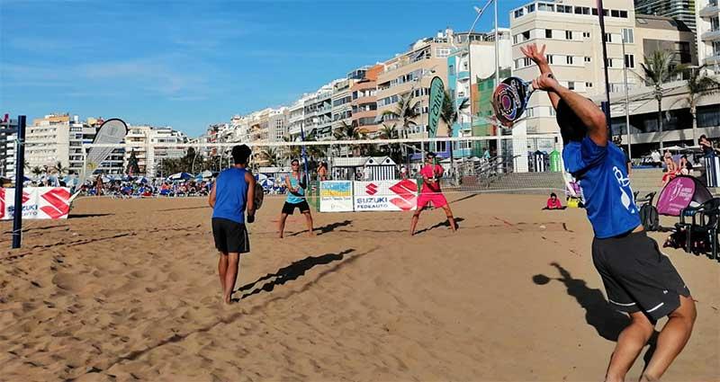 Catchot/López y Farías/ Fernández ganan el segundo Torneo ITF Suzuki de tenis-playa en Las Canteras en un día espectacular