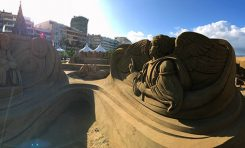 Panorámica del Belén navideño de arena