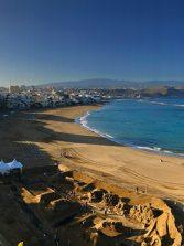 La playa de Las Canteras brilla en Navidad