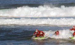 Los papanoeles se lo pasaron pipa surfeando en la Cicer