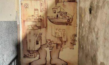 """El artista conejero Feoflip le """"regala"""" un mural a La Isleta"""