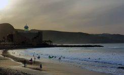 Atardecer en la playa de la Cicer