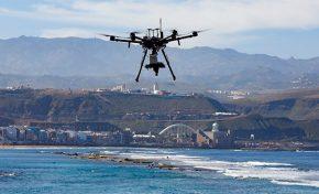 Ciudad de Mar avanza en el estudio de La Barra de Las Canteras con  la recogida de imágenes aéreas de alta precisión