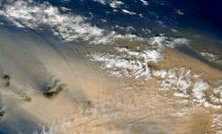 Así se vio la calima de este domingo desde el espacio