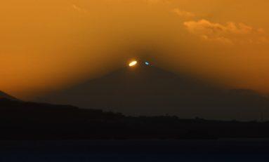 ¿ Rayo verde sobre el Teide ?