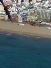 Un vídeo para la historia: sobrevolando Las Canteras desierta