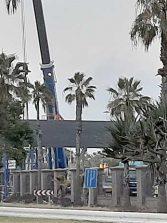 Se instalan dos nuevas piezas de la pasarela Onda Atlántica