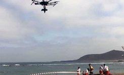 Vuelve a volar el dron que estudia Las Canteras