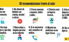 10 recomendaciones frente al calor
