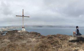Desde lo alto de la montaña de El Confital