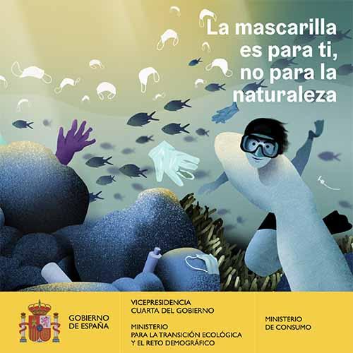 """«La mascarilla es para ti, no para la naturaleza"""", una campaña institucional para evitar el abandono de residuos higiénico-sanitarios en entornos naturales"""