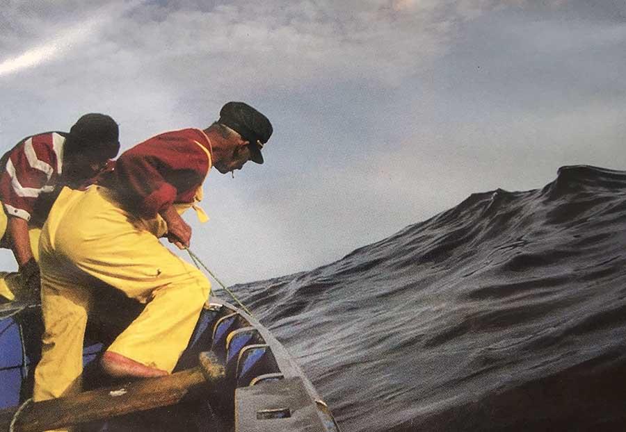 Juan Casalla «el Chacalote» echando un trasmallo
