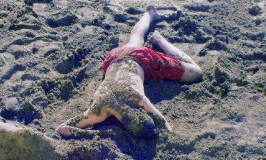 Revolcado en la arena