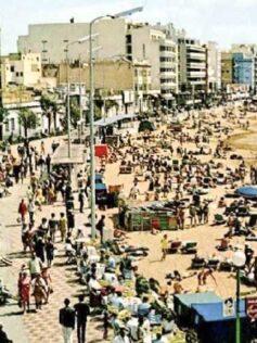 Fantástico ambiente en Las Canteras de los años setenta