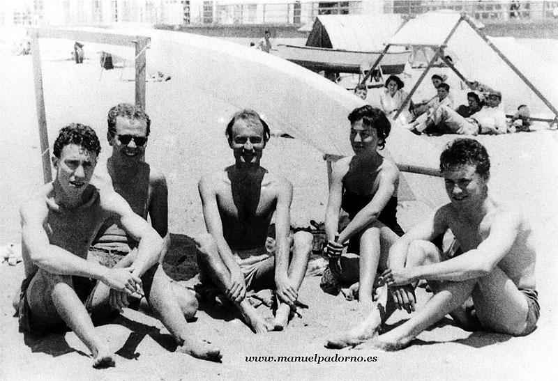 1954: artistas universales sobre la arena de Las Canteras
