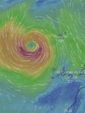 La tormenta Theta dejará viento en cumbres y medianías de las Islas Occidentales hasta el domingo