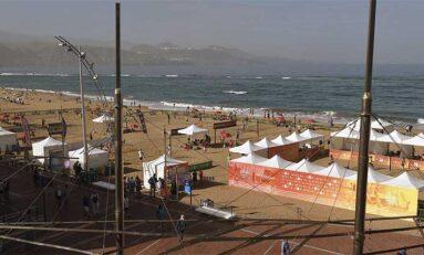 El ITF Beachtennis Gran Canaria celebra sus primeras finales este lunes en Las Canteras