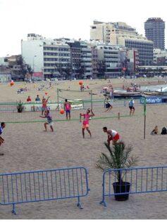 1995: actividades deportivas en La Puntilla