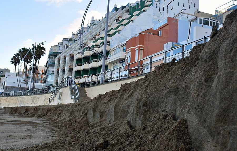 Un «acantilado» de arena