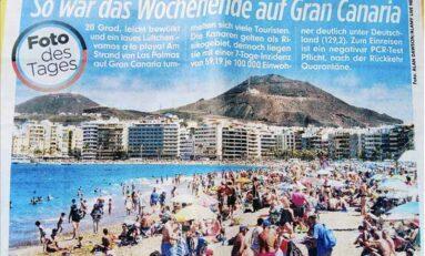 La playa de Las Canteras protagoniza la imagen de portada del diario alemán Bild