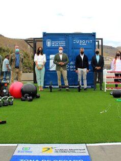 El IMD potencia la actividad física al aire libre con la instalación del gimnasio modular Cubofit en el parque del Lloret
