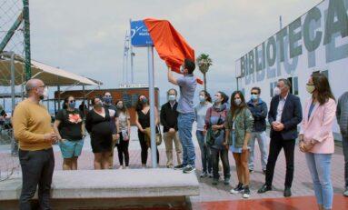 El IMD homenajea la figura de María Casanova con una placa con su nombre en la pista de Crossminton de Las Canteras