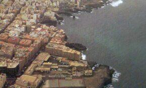 Años ochenta: litoral costero desde La Puntilla hasta la Casa Roja
