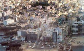La explanada de La Puntilla en la década de los ochenta