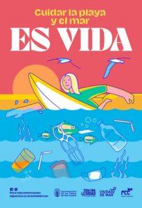 Ciudad de Mar apuesta por un verano seguro y saludable en las playas de la capital con la campaña 'Es vida'
