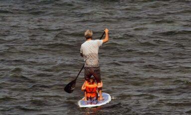 En el paddle con papá