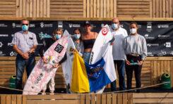 Los surferos canteranos Lucía Machado y Luis Díaz, campeona y subcampeón de España 2021