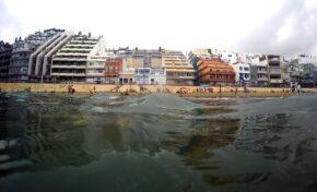 Las Canteras desde el mar